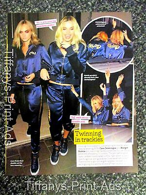 MARGOT ROBBIE  Cara Delevingne  Magazine CLIPPINGS Feature Photo Picture