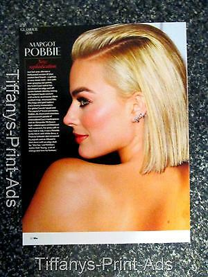 MARGOT ROBBIE   Full Page Magazine CLIPPINGS Photo Picture