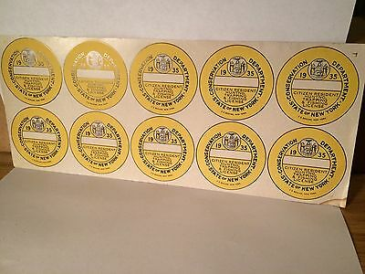 Vintage 1935 New York State Hunting Trapping Fishing License Blanks Cabin Decor