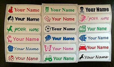 25 Personalised Iron On School,Nursery,Care Home Clothes, Name Labels.