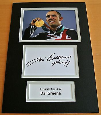 Dai Greene Hand Signed Autograph A4 Photo Display Olympics Hurdles Gift & Coa