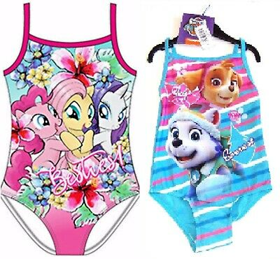 Girls Character My Little Pony Paw Patrol Swimsuit Swimming Costume 2 3 4 5 6