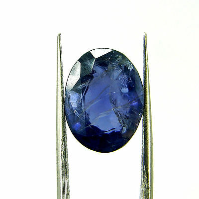 5.45 Ct Oval Natural Blue Iolite Loose Gemstone Untreated Stone - 116843