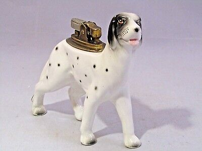 Mid Century Unique Cermaic ''dalmatian'' Dog Table  Lighter Collectible