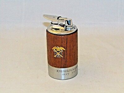 Vtg  1962  ''ronson'' Varaflame  Wood Holder Germany Table  Lighter Collectible