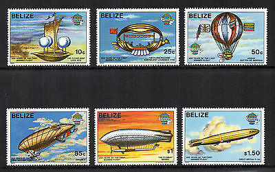 BELIZE - 1983, Bicentenary of Manned Flight, MNH