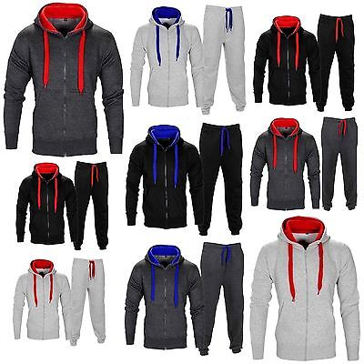 New Womens Ladies Gym Jogging Fleece Top Bottom Joggers Hooded Sports Tracksuit