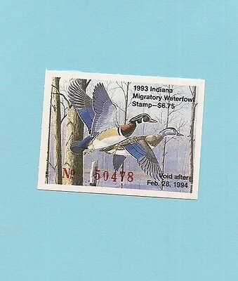 1993 Indiana  Duck Stamp - Mint Never Hinged