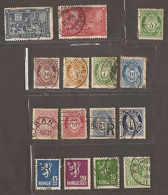 Norway Stamps 1894 - 1907 Used Unused  See Scan For Back And Front