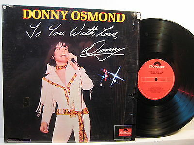 LP- Donny Osmond: To You With Love - 1971 CA