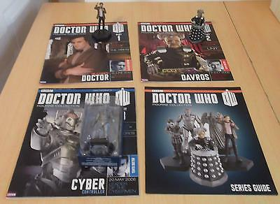 DR Who Eaglemoss Figurine Collection Series Guide + Magazine 1-3 WITH Figurines
