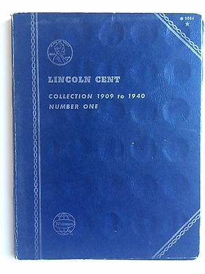 LINCOLN CENT - COLLECTION 1909 to 1940 - NUMBER ONE - Whitman Folder w/ Coins