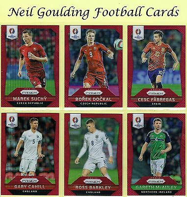 Panini Euro PRIZM 2016 RED PARALLEL Football Cards #/149