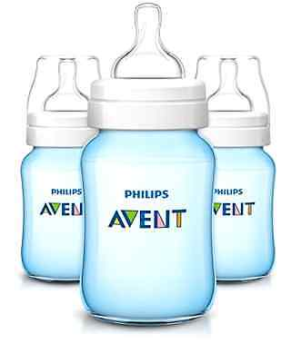 Philips Avent Classic Plus Baby Bottles, Blue, 9 Ounce (3 Pack)
