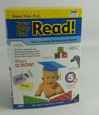 Your Baby Can Read 5 DVD Set Bonus Flash Cards Early Language Development System