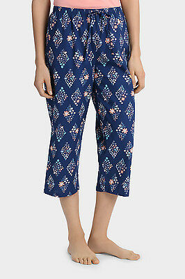 Soho Mila 3/4 PJ pyjama pant S NWT 100% cotton summer floral diamond