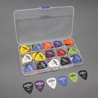 Acoustic Electric Guitar Gear Picks Plectrum Various thickness + Pick Box