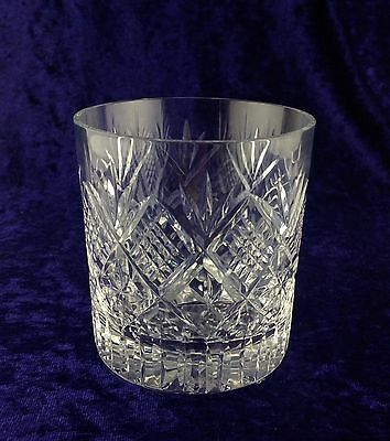 Royal Brierley Crystal ~ Chester Whisky Tumbler Glass.