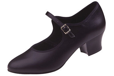 Freed LBB2 Buckle Character Shoes Black Sizes 4.5 to 7