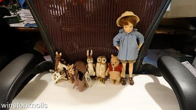 R. JOHN WRIGHT 8pc SET POCKET CHRISTOPHER ROBIN & POOH & FRIENDS  MINT IN BOXES