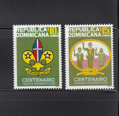 Dominican Republic 2008 Boy Scouts Sc 1450-1451  mint never hinged