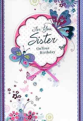 Isabels Garden,sister Birthday Card,top Quality,3D,handmade,butterfly, Bow,s1