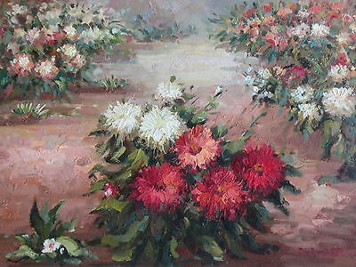 """Wild Flowers Original Hand Painted 12""""x16"""" Oil Painting Floral Canvas Art"""