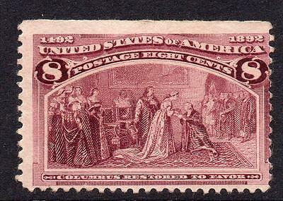 U.S.A. 8 Cent Columbus Stamp  c1893 Mounted Mint
