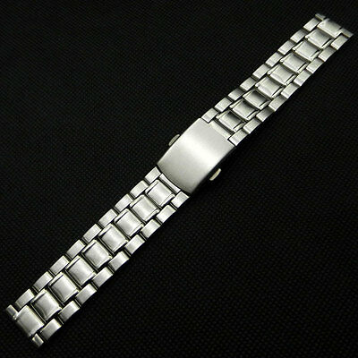 18-22mm Silver Stainless Steel Bracelet Watch Band Strap