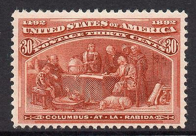 U.S.A. 30 Cent Columbus Stamp c1893 Mounted Mint (perf thin)