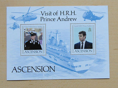 Ascension Island 1984 Prince Andrew Miniature Sheet Sg MS358 MNH Helicopter Ship