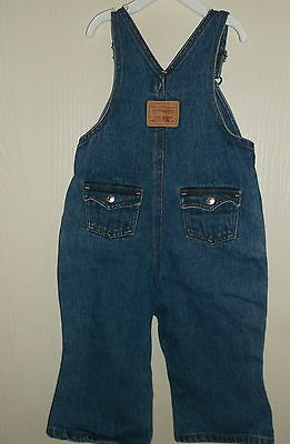 Levis for Girls Blue Denim Overalls - Size 24 mos