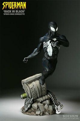 Back In Black Spiderman Comiquette Statue Figur Sideshow