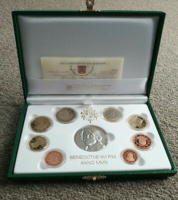 Vatican € coin set PROOF 2010 + €20 silver coin 400 years Caravaggio - Easter