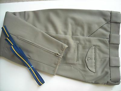 New  Silver Tan Poly/Wool Police Uniform Breeches (pants) with CHP style braid