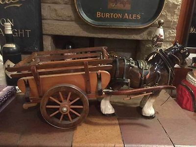 Large Horse and Cart Ornament