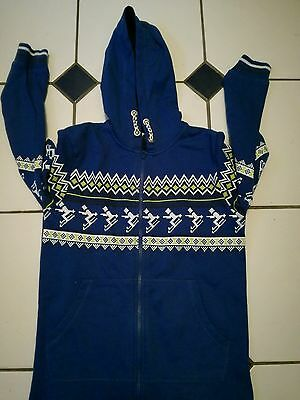 boys blue onesie with hood age 8-9