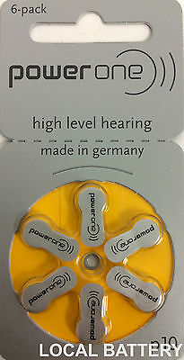 60 Power One Hearing Aid Batteries, SIZE 10, FREE USA SHIPPING!