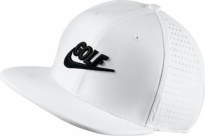 New 2017 Nike Golf Pro Performance Flatbill Adjustable Hat/Cap COLOR: White
