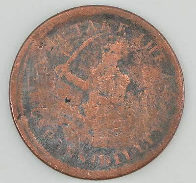 """1837 Hard Times Token """"I Take The Responsibility"""" ***Condition *Z92"""
