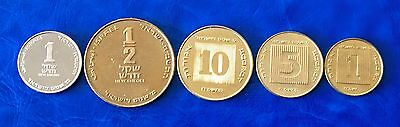 Israel 40th Anniversary Special Issue New Sheqel 5 Coins Set 1988 Uncirculated