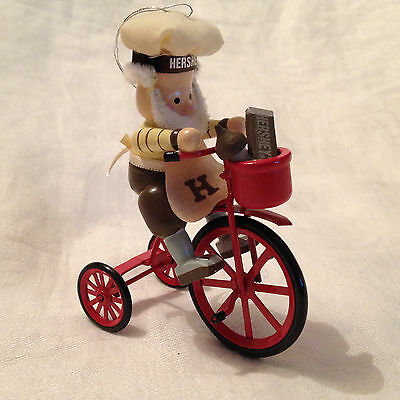 Hershey Elf on Tricycle 1989 Christmas Ornament