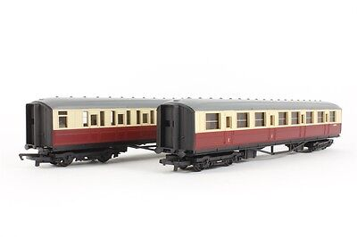 Hornby Set of 3x BR RED & CREAM Mk. 1 Coaches OO Gauge 1:76 Scale NEW FROM R1172