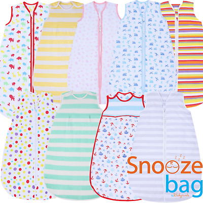 Snoozebag Nursery Baby Sleeping Bag 100% Cotton 6 Designs Multi Sizes And Togs
