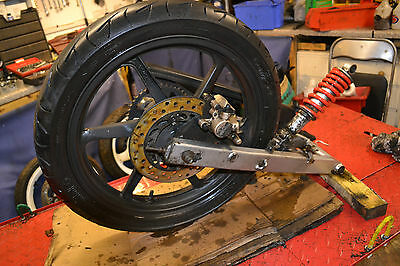 honda cbr125 complete rear end wheel swingarm caliper shock for 04 - 07 bike
