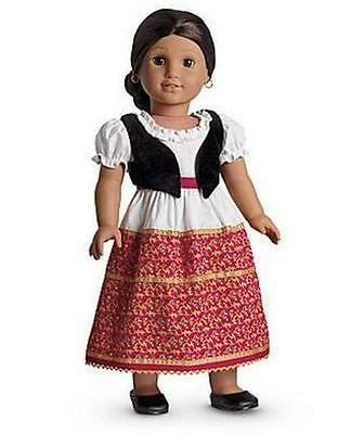 American Girl Josefina's Dress And Vest With Shoes ~ Nib ~ Retired ~ Free Ship