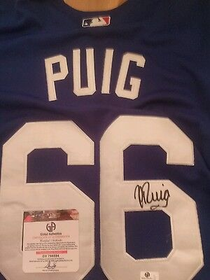 yasuel puig signed jersey with coa