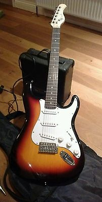 Lindo electric guitar and amplifier