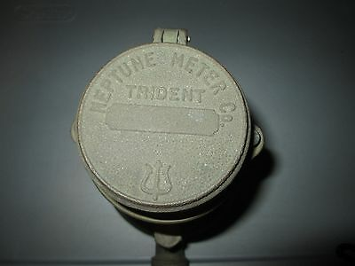 NOS Vintage Brass NEPTUNE Water Meter Co Trident With Gauges