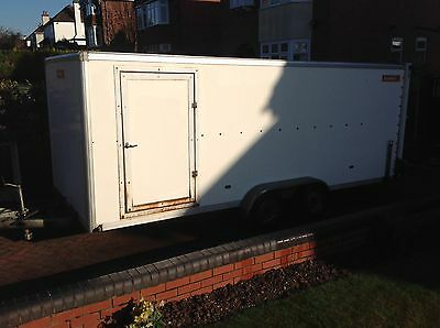 Twin axel Covered race Car transporter trailer shuttle Kitcar collectors